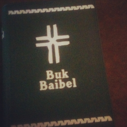 the bible in melanesian pidgin, trade language of png